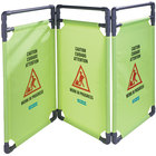 Carlisle 3694404 Yellow 3 Panel Caution Barrier