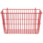 Metro H212F Flame Red Storage Basket for Wire Shelving - 17 3/8 inch x 7 1/2 inch x 10 inch
