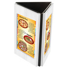 Menu Solutions TRIWD-A-WHITE WASH Charleston 4 inch x 6 inch White Wash Three View Wooden Table Tent
