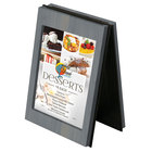 Menu Solutions CHRT4 Charleston 4 inch x 6 inch Denim Two View Wooden Table Tent