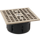 FMP 102-1174 Guardian 3 1/2 inch Drain-Lock Smith Floor Drain Grate with 4 9/16 inch Square Top Plate