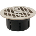FMP 102-1173 Guardian 3 1/2 inch Drain-Lock Zurn Floor Drain Grate with 5 inch Round Top Plate