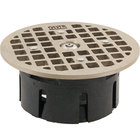 FMP 102-1171 Guardian 3 1/2 inch Drain-Lock Smith Floor Drain Grate with 4 3/4 inch Round Top Plate