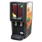 Crathco C-2S-16 G-Cool Mini Duo Double 2.4 Gallon Bowl Premix Cold Beverage Dispenser with Iced Tea Decal