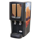 Crathco C-2S-16 G-Cool Mini Duo Double 2.4 Gallon Bowl Premix Cold Beverage Dispenser with Iced Coffee Decal
