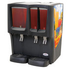 Crathco C-3D-16 G-Cool Focus Flavor Triple Bowl Premix Cold Beverage Dispenser with (1) 5 Gallon and (2) 2.4 Gallon Bowls and Fruit Decal