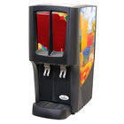Crathco C-2S-16 G-Cool Mini Duo Double 2.4 Gallon Bowl Premix Cold Beverage Dispenser with Fruit Decal