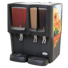 Crathco C-3D-16 G-Cool Focus Flavor Triple Bowl Premix Cold Beverage Dispenser with (1) 5 Gallon and (2) 2.4 Gallon Bowls and Iced Tea Decal