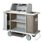 Metro LXHK3-PRO-P Lodgix Pro Housekeeping Cart with Never Flat Casters