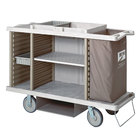 Metro LXHK4-PLUS-P Lodgix Plus Tall Housekeeping Cart with Never Flat Casters