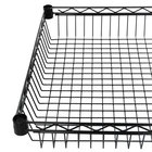 Regency 24 inch x 24 inch NSF Black Epoxy Shelf Basket