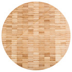 American Metalcraft B10 10 inch x 1 1/2 inch Round Bamboo Butcher Block Serving Board