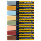 American Metalcraft SMA720V8ET Securit All-Purpose Jumbo Tip Assorted Earth Tone Chalk Markers - 8/Pack