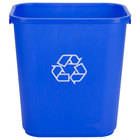 Lavex Janitorial 28 Qt. / 7 Gallon Blue Rectangular Recycling Wastebasket / Trash Can