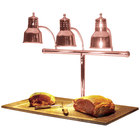 Hanson Heat Lamps 3LM-BB-BCOP Triple Bulb 20 inch x 36 inch Bright Copper Carving Station with Synthetic Granite Base