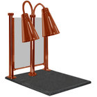 Hanson Heat Lamps DLM/900/CC/ST/SC Dual Bulb 20 inch x 24 inch Smoked Copper Carving Station with Sneeze Guard