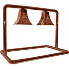 Hanson Heat Lamps MGM/500/CUSTOM/SC Dual Bulb Freestanding Food Warmer with Royal Shades and Smoked Copper Finish - 120V
