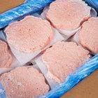 Devault Foods 4 oz. Homestyle 75/25 Beef Burger - 40/Case