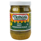 Nathan's Famous 16 oz. Sweet Horseradish Pickle Slices - 12/Case