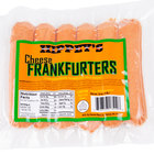 Denver Meats Hippey's 1 lb. Pack 6/1 Size Cheese Franks - 12/Case
