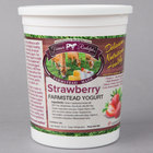Farmer Rudolph's 32 oz. Strawberry Farmstead Yogurt - 6/Case