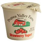 Pequea Valley Farm 6 oz. Amish-Made 100% Grass Fed Strawberry Yogurt - 6/Case