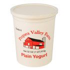 Pequea Valley Farm 32 oz. Plain Yogurt - 6/Case