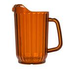 Choice 32 oz. Amber SAN Plastic Beverage Pitcher