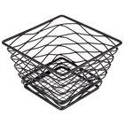 American Metalcraft BNRB64B Square Birdnest Black Metal Basket / Riser - 6 inch x 6 inch x 4 inch