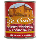 La Casita 7 oz. Chipotle Peppers in Adobo Sauce - 24/Case