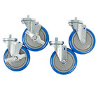 5 inch Enclosed Base Table Swivel Stem Casters - 4/Set