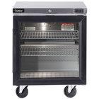 Delfield GUR32P-G 32 inch Glass Door ADA Height Undercounter Refrigerator with 3 inch Casters