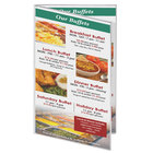 Menu Solutions CHS200G 11 inch x 17 inch Double Panel / Four View Clear Heat Sealed Menu Cover