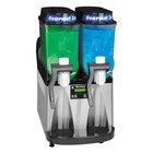Bunn 34000.0025 Ultra-2 Black and Stainless Steel Double 3 Gallon Liquid Pourover Slushy / Granita Frozen Drink Machine - 120V