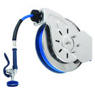 T&S B-7132-01 35' Open Stainless Steel Hose Reel with EB-0107 High Flow Spray Valve
