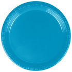 Creative Converting 28313111 7 inch Turquoise Blue Plastic Plate - 240/Case