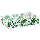 9 3/8 inch x 5 5/8 inch x 2 inch 2-Piece 2 lb. Holly / Holiday Candy Box   - 125/Case