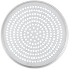 """American Metalcraft SPT2009 9"""" x 1/2"""" Super Perforated Tin-Plated Steel Tapered / Nesting Pizza Pan"""
