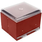 Vollrath 3802-02 Straw Boss Double Sided Bulk Unwrapped Straw Dispenser - Red