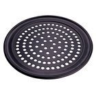 American Metalcraft SPHCTP13 13 inch Super Perforated Hard Coat Anodized Aluminum Wide Rim Pizza Pan