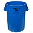 Rubbermaid FG264300BLUE BRUTE 44 Gallon Blue Round Trash Can