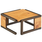 Cal-Mil 3902-6-84 Sierra Bronze Metal and Reclaimed Wood Square Riser - 12 inch x 12 inch x 6 inch