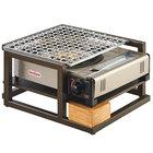 Cal-Mil 3915-84 Sierra Bronze Metal and Reclaimed Wood Butane Burner Frame - 14 1/2