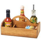 Cal-Mil 3691-99 Madera 10 1/4 inch x 5 inch x 5 1/2 inch 6 Section Reclaimed Wood Condiment Caddy with Handle