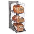 "Cal-Mil 3815-83 Ashwood 3 Tier Gray Oak Wood Bread Case - 6 1/2"" x 13"" x 20 1/4"""
