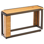 Cal-Mil 3901-11-84 Sierra Bronze Metal and Reclaimed Wood Rectangle Riser - 20 1/2 inch x 7 inch x 11 inch