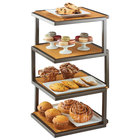 Cal-Mil 3918-84 Sierra Bronze Metal and Rustic Pine 4-Tier Elevation Riser - 13 1/2 inch x 13 1/2 inch x 25 inch