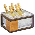 Cal-Mil 3905-10-84 Sierra Bronze Metal and Reclaimed Wood Ice Housing - 13 1/4 inch x 11 inch x 6 inch