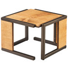 Cal-Mil 3902-9-84 Sierra Bronze Metal and Reclaimed Wood Square Riser - 12 inch x 12 inch x 9 inch