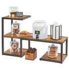 Cal-Mil 3903-84 Sierra Bronze Metal and Rustic Pine Riser Display System - 38 1/4 x 13 1/2 x 24 inch